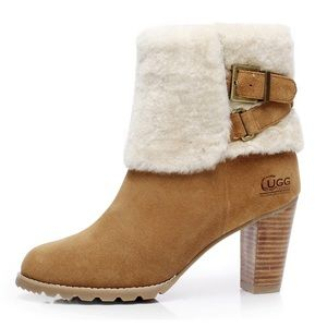 NEW UGG Australia HIGH HEEL BELT UGG BOOTS